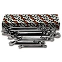 Ring-Maulschlüsselsatz, 18teilig, lange Ausführung (Art. 42LMP)