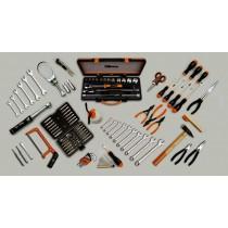 Werkzeugsortiment 124-teilig für Motorradreparaturen