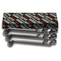 Doppelringschlüsselsatz, 8teilig, tief gekröpft (Art. 90AS) in Zollausführung