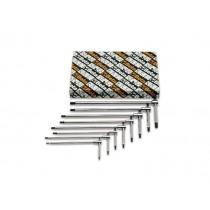 Stiftschlüsselsatz, 14teilig, mit T-Griff, Sechskantprofil an drei Enden (Art. 951)