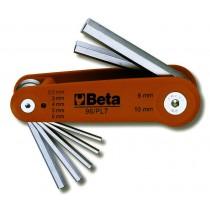 Sechskant-Stiftschlüsselsatz, 7teilig, gebogen (Art. 96)