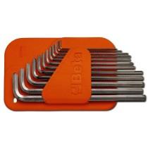 Sechskant-Stiftschlüsselsatz, 12teilig, lange Ausführung