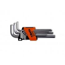 Sechskant-Stiftschlüsselsatz, lange Ausführung, 8teilig
