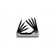 Torx Stiftschlüsselsatz, 8teilig, gebogen,