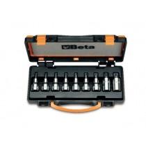 Steckschlüsselsatz, 9teilig, für Torx®-Schrauben (Art. 920TX), im Kasten