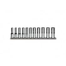 Zwölfkant-Steckschlüsselsatz, 11teilig (Art. 920AS/L), auf Halterung