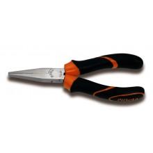 Flachzange mit langen Backen,  Griffe aus Bimaterial, 160 mm