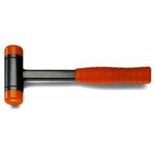 Rückschlagfreier Hammer mit auswechselbaren Kunststoffaufsätzen, Stiel aus Stahl