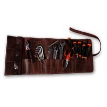 """Vintage Leder Werkzeugrolle mit 20-tlg. Werkzeugsortiment Limited Edition """"80 Jahre Beta"""""""