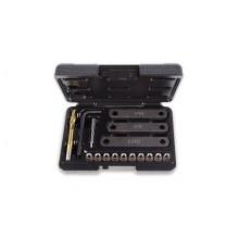 Werkzeugsortiment für Reparatur von beschädigten Gewinden auf Bremssattelhalterungen M9x1,25