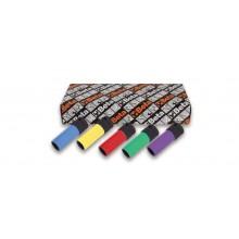 Kraftsteckschlüsselsatz für Radmuttern, 5-teilig , mit farbigen Polymereinsätzen