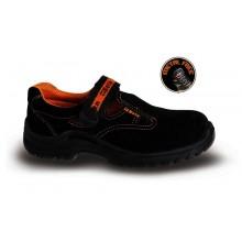 Sandalen aus weichem Wildleder mit Klettverschluss S1P SRC