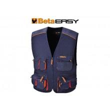 Mehrtaschen-Arbeitsweste, leichte Ausführung, Blau