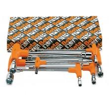 Steck-Schlüsselsatz, 12kant x 6kant, mit Griff