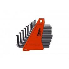 Sechskant-Stiftschlüsselsatz, 12teilig, gebogen (Art. 96), mit Halterung