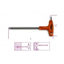 6-Kant-Stiftschlüssel mit Griff, aus Edelstahl, Zollausführung