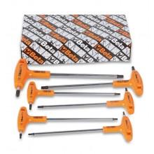 Stiftschlüsselsatz 6-teilig, gebogen mit Griff für Torx-Schrauben