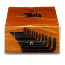 Torx Stiftschlüsselsatz, 13teilig, gebogen, in Tasche