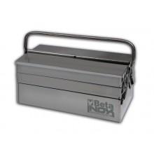 Werkzeugkasten, ausklappbar, mit fünf Fächern, aus Edelstahl AISI 304