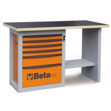 """Werkbank """"Endurance"""" mit 1 Schubladenblock bestehend aus sechs Schubladen, kurze Ausführung"""